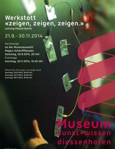 Plakat Werkstatt «zeigen, zeigen, zeigen»