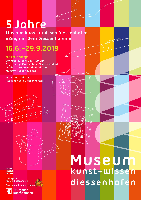 Plakat 5 Jahre Museum Kunst und Wissen