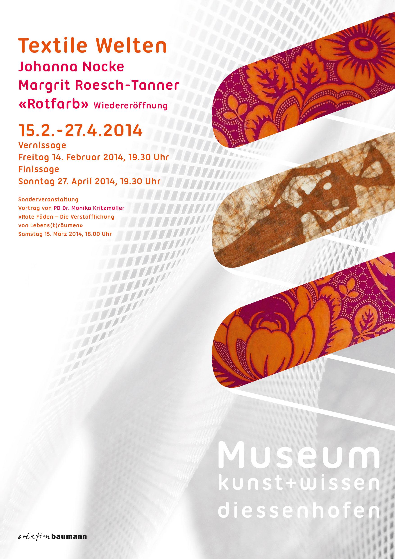 Plakat Textile Welten